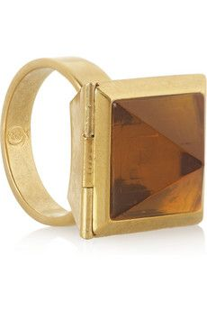 Embellished brass ring by Alexander McQueen (opens to reveal a skull!) £118