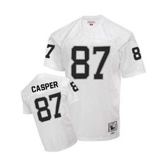 25c9dfa3504 Ronnie Lott Men s Authentic White Jersey  Mitchell and Ness NFL Oakland  Raiders Road Throwback