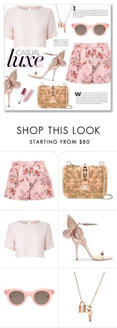 """Casual Luxe"" by alexandrazeres ❤ liked on Polyvore featuring STELLA McCARTNEY, Valentino, True Decadence, Sophia Webster, Sun Buddies, Lime Crime, StellaMcCartney, Luxe, fashionset and casualluxe"