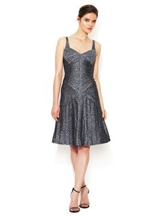 Silk Fish Scaled Pleated Dress by Zac Posen at Gilt