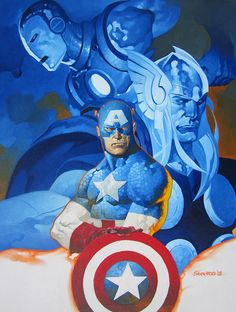 Avengers  Illustrations by Christopher Stevens