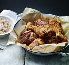 Fried chicken with spicy smoky kick - serve it in a basket with coleslaw for a touch of nostalgia