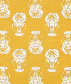 Premier Prints Lobster Corn Yellow Slub Fabric - $8.75 | onlinefabricstore.net