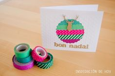 Inspiracion de hoy: Tarjeta de navidad con washi tape