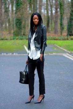Styles by Assitan: Back to work - look de working girl chic & rock