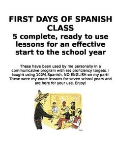 Bookmark this for some fresh ideas for September!! New to teaching Spanish? Afraid of how to start or looking for some fresh ideas to start the school year?