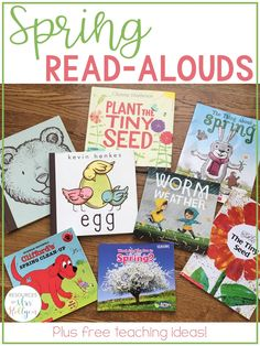 Spring is full of so many exciting things: warmer weather, sunnier days, and great books themed around the beautiful season. Some favorite read alouds to use with preschool, kindergarten, 1st, & 2nd grade students include Old Bear, Clifford's Spring Clean-Up, Egg, What Can You See in Spring?, The Tiny Seed, and Plants in Spring. These books can easily be paired with some fun spring free printables that will have preK, Kinder, first, & second graders writing and drawing. #free #spring #preschool