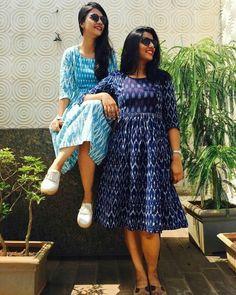 45 Trendy Ideas for dress indian ikkat Source by Dresses indian Kalamkari Dresses, Ikkat Dresses, Frock Dress, Saree Dress, Saree Blouse, Casual Frocks, Casual Dresses, Frock Fashion, Fashion Dresses