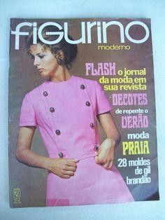 Figurino Moderno Nº 42 - Inclui Moldes De Gil Brandão - 1970 - R$ 98,00 no MercadoLivre