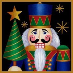 Nutcracker Christmas - 'Nutcracker and Tree' By Stephanie Stouffer Christmas Rock, All Things Christmas, Christmas Holidays, Christmas Crafts, Christmas Ornaments, Xmas, Christmas Graphics, Christmas Clipart, Christmas Pictures