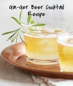 Easy Gin-Ger Beer Cocktail recipe made in the Vitamix