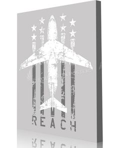 "Share Squadron Posters for a 10% off coupon! C-17 Flag ""Reach"" #http://www.pinterest.com/squadronposters/"
