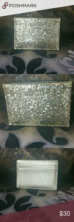 Kate spade card holder Glitter bug card holder , Used in great condition. kate spade Bags Wallets