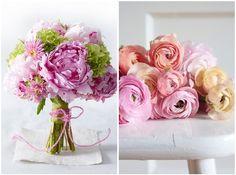 Spring 2014 wedding trends - Peony & Ranunculus wedding bouquet
