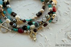 Gemstone Pearl Turquoise Vintage Silver and by simplymeart on Etsy, $88.00