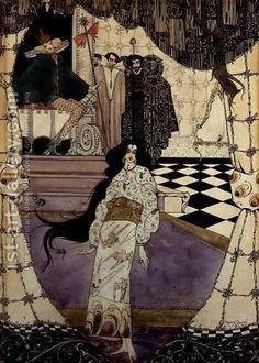 Illustration from The Little Mermaid, 1914 Painting by Harry Clarke Reproduction Art Nouveau, Art Deco, Harry Clarke, Web Gallery, Art Society, Irish Art, Oil Painting Reproductions, Illustrations And Posters, Style Vintage
