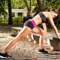 Get a total-body strength training workout in the great outdoors with these exercises you can do with just a park bench.