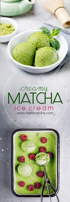 Matcha + Ice Cream is a match made in heaven. The natural sweet and nutty flavors of the Matcha green tea pair perfectly with creamy-milky heavy cream.