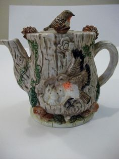 DECORATIVE TEAPOT MADE IN CORNWALL