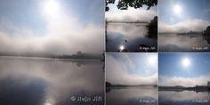Ranní mlha nad Poselským rybníkem aneb když Bezděz vstává ...