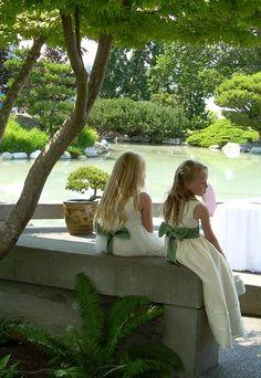 Flower girls at a green wedding