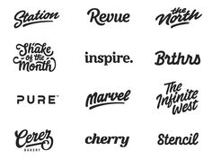 25 Inspiring Hand-drawn Logo Designs – BashookaYou can find Logo type and more on our Inspiring Hand-drawn Logo Designs – Bashooka Logos Vintage, Logos Retro, Hand Drawn Logo, Hand Drawn Type, Gfx Design, Logo Design, Type Design, Graphic Design, Hang Ten