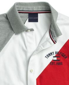 Tommy Hilfiger Adaptive Men's Stripe Polo with Magnetic Buttons - Gray XXL Polo Shirt Outfits, Mens Polo T Shirts, Pique Polo Shirt, Nike Outfits, Shirt Men, Mens Tees, Nike Clothes Mens, Men Clothes, Camisa Polo Tommy