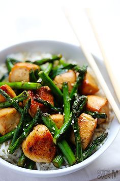 Chicken and Asparagus Stir-Fry -
