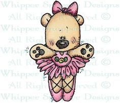 Ballerina Bear - Bears - Animals - Rubber Stamps - Shop