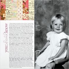You Should Know | A new layout from my article in Scrapbook & Cards Today spring issue. Originally included in my Yesterday & Today workshop.