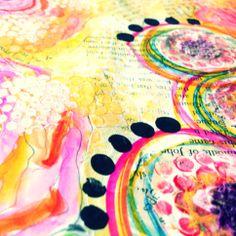 Art journal page in progress