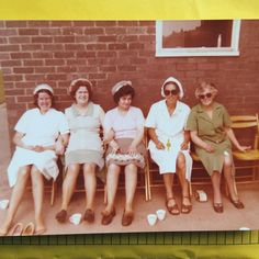My Grandma (in the green housecoat) was teeny tiny and the most determined person you could ever meet. She was a dinner lady for a long time (here she is taking a break with her pals) she always liked a natter and ironed EVERYTHING including pants tea towels and face cloths! Sadly she died last week and none of us will ever forget her or her biscuit tin always packed with garibaldis jammy dodgers rich tea and lemon puffs.  She did go upmarket recently and add M&S raisin cookies to the mix!