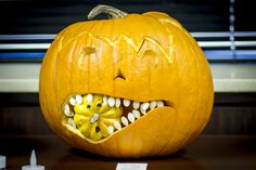 CoServ 2014 Pumpkin Carving Contest Entry (pumpkin eating a gourd)