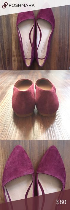 ▪️FIRM▪️ Madewell Flats NWOT Beautiful suede flats, never worn. Burgundy colored Madewell Shoes Flats & Loafers