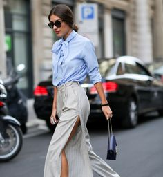 The Best Street Style From Milan Fashion Week - Fashionista Street Style Chic, Milan Fashion Week Street Style, Milano Fashion Week, Cool Street Fashion, Look Fashion, Fashion Outfits, Net Fashion, Fashion Story, Fashion Trends
