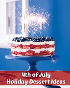 4th of July Holiday Dessert Ideas. Try these sweet treats, recipe, and video for your holiday entertaining. #4thofJuly #patriotic #desserts