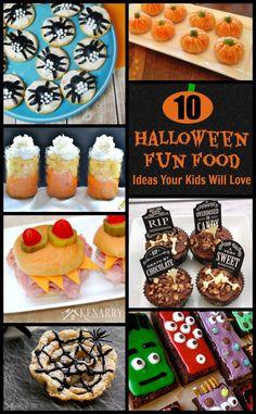 10 Halloween Fun Food Ideas -- My kids will love these!