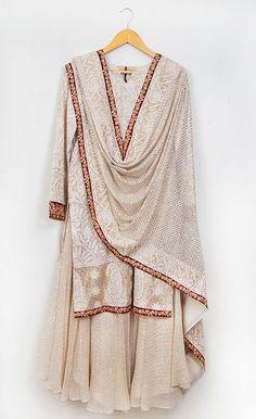 Anjul Bhandari | Sharara Bridal Mehndi Dresses, Pakistani Dresses, Indian Dresses, Embroidery On Kurtis, Kurti Embroidery Design, Indian Jackets, Designer Party Wear Dresses, Sharara, Brides And Bridesmaids