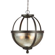 Shop for Sfera 3-light Autumn Bronze/ Mercury Glass Pendant. Get free shipping…