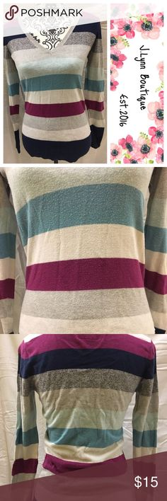 American eagle long sleeve Like new condition American eagle long sleeve. Multicolor stripes. Very soft and comfy! Size medium. American Eagle Outfitters Tops Tees - Long Sleeve