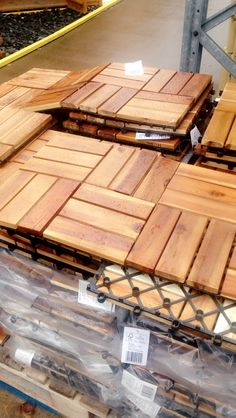Wood tiles from b&q