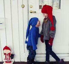 Ravelry: Gurimalla Long Hat pattern love it! pattern is free Knitting For Kids, Crochet For Kids, Baby Knitting Patterns, Free Knitting, Knit Crochet, Crochet Hats, Holiday Hats, Knitted Shawls, Knitted Hat