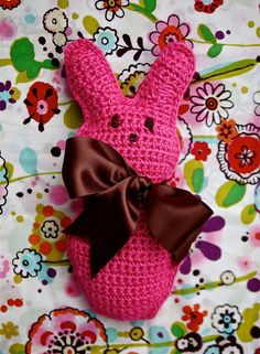 Candy Bunny Pattern. Looking for a last-minute, Easter basket gift to make for your sweeties? Well then, try the Candy Bunny pattern. Cute, cuddly, and can be crocheted in just a couple of evenings. Hoppy Spring! Download the free PDF pattern.