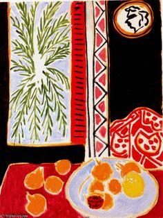 """Granadas Nature morte aux Huile sur Toile de Nice, Musee Matisse"" por Henri Matisse (1869-1954, France)"
