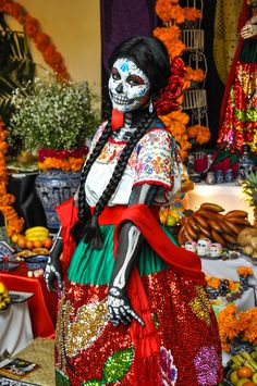 Puebla, Mexico - Woman Dressed For Day of the Dead
