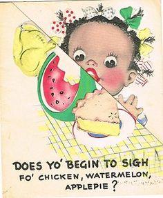 Black Americana Vintage Card