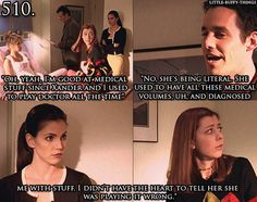 Willow and Xander's version of playing doctor-Another reason Willow is my spirit animal