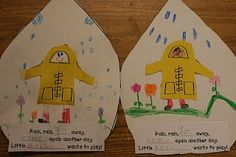 Cute Spring Art - Rain, rain go away, come again another day. Little ___ wants to play!