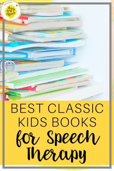 Here is a list of some of my favorite speech therapy books. Some of them I know you've heard of, and some of them might be new to you! I say take a look and try them out in your speech rooms to see if your students love them as much as mine do.