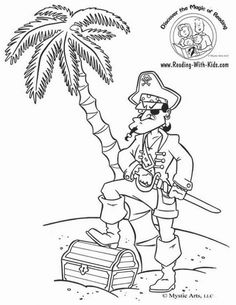 Pirate Coloring Pages For Kids | Noah\'s Ark | Pinterest | Pirate ...